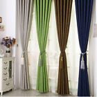 AM1 Pure Ring Top Eyelet Room Window Door Pair Blockout Curtains Darkening Drape