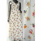 Ex Wallis Maxi Dress Cream Chiffon Floral Print Holiday Party Ladies Size 10 14