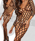 Sexy Lingerie Babydoll Chemise Sleeve Bodysuit BODYSTOCKING Open Crotch BOXED