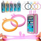 Universal Fluorescent Protective Silicone Bracelet Cell Phone Cover Bumper Case