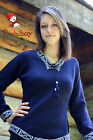 Metis Sweater Etchiboy Chandail Navy Blue Alpaca Wool Laine Bell Shape XS-XL