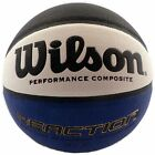 WILSON REACTION BASKETBALL SIZE 7- NEW - BLACK BLUE WHITE