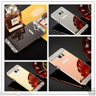 Diamond Crystal Mirror Case + Metal Bumper Frame Cover For Samsung Galaxy Note 5