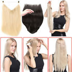 "16""30"" 120G THICK HUMAN REMY SECRET INVISIBLE WIRE HAIR EXTENSIONS ANY COLOUR"