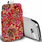pu leather pull tab pouch case for most Mobiles - mimosa  pouch