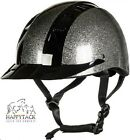 New HKM Black & Silver Glitter Riding Helmet Hat S M L Adjustable Fit