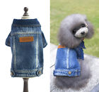 New Fashion Pet Fall and Winter Clothes Male Dog Clothes Puppy Coat Casual Jeans