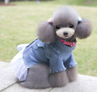 New Fashionable Pet Dog Clothes Puppy Coat Casual Jeans Dress Denim Skirt