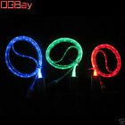 DGBay Blue Visible LED Lights UP Charging Micro USB v2.0 Charger Data Sync Cable