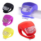 2 x Silicone Bright LED Bike Bicycle Cycle Safety Clip Lights Lamp Front Rear