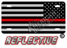 Thin Red Line Decals and Auto Tag REFLECTIVE Tactical flag License Plate REVERSE