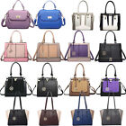 Women Designer PU Leather Celebrity Padlock Shoulder Satchel Handbag Tote Bag