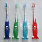 Children's Kids Toothbrush 4pk Soft bristles Red,Green,Blue Happy Face Brand New