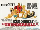 James Bond 007 Thunderball 1965 Movie Poster Canvas Wall Art Print Sean Connery £65.0 GBP on eBay