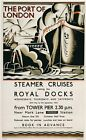 A3/A4 VINTAGE RAILWAY POSTER  RE-PRINT (ROYAL DOCKS)