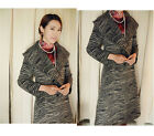Womens Winter Coat Cheongsam Necessity Thicken Zebra Overcoat Wool BaiLeMen