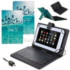 """HOT For Acer Iconia 7"""" 8"""" 10.1"""" Tablet PU Leather Stand Case Cover with Keyboard"""