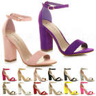 WOMENS LADIES HIGH HEEL BARELY THERE PEEP TOE STRAPPY PARTY SANDALS SHOES SIZE