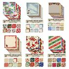 """FLONZ doublesided 5.5""""x5.5"""" Christmas scrapbooking/card making paper your choice"""