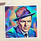 FRANK SINATRA portrait modern painting CANVAS ART PRINT (Rolled)