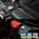 Car Front Heat Gear Knob Hot Cover Pad 12V Carbon Line Armrest Cushion For JEEP