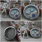 Mother and Son Love is forver filled Memory locket  Keyring - 30MM