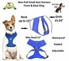 Non Pull Dogs Vest Harness Chest Padded Waterproof Adjustable Dexil Elite Range <br/> BEST SELLING FRONT BACK RING NEW MULTIPLE COLOURS SIZES
