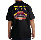 Dickies Mechanic Work Shirt Who's The Boss Ford Mustang Hot Rat Rod Auto Car