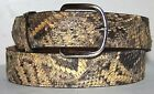 READ DESCRIPTION B 4  PURCHASE Genuine Eastern Diamondback Rattlesnake Skin Belt