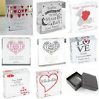 PERSONALISED Crystal Token Valentines Wedding Gift Present Idea For Her For Him