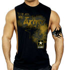 US Army Star Workout Vest Tank Top Bodybuilding USA Gym American Pride T Shirt image