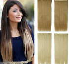 """22"""" Long Full Head Hair Piece Clip In Hair Extensions One Piece Straight Style"""