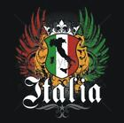 NEW ITALIA CREST FLAG T-Shirts Small to 5XL BLACK or WHITE