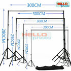 Photography Studio Background Support Set Backdrop Stand Kit With Free Carry Bag