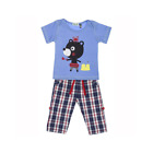 Lilly and Sid Baby Boys Roll Up Trousers and T-Shirt Set Checkmate