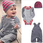 Children Tender Clothes Kids Jumpsuit Baby Romper 3pcs / Set Tender Cap for Baby