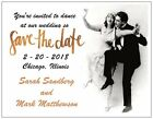 30 50 100 Personalized DANCE At Our WEDDING  Save DATE 5.5 x 4 MAGNETS & Env