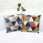 Colorful Geometric Cotton Linen Throw Pillow Case Car/Sofa Back Cushion Cover