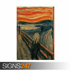 THE SCREAM EDVARD MUNCH (1228) Photo Picture Poster Print Art A0 A1 A2 A3 A4