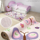 Kids Butterfly Rug Children Bedroom Floor Carpet Play Mat Home Decor Furniture