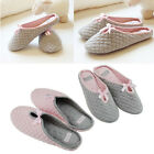 Womens Ladies Comfortable Home Office Cotton Slippers Anti-skid Shoes Size 4-6
