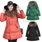 Women Plus Size Maternity Pregnant Puffer Casual Outwear Winter Coat K-C612