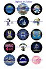 "SAN DIEGO CHARGERS 1"" CIRCLES  BOTTLE CAP IMAGES. $1.95-$4.50"