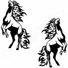 2x HORSE FLAME Decals Horsebox Trailer Stable Wall Art Stickers (H1)