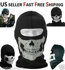 NEW Skull Skeleton Full Face Mask Ghost Bike Skateboard Hood Scarf Costume COD