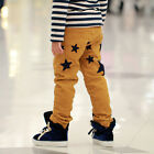 Toddlers Girls Kids Boys Quality Corduroy Stars Casual Pants Trousers 3-8T P773