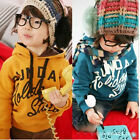 Toddlers Childrens Sunday Image 100% Cotton Velvet Hoodie Sweater 3-8 Y S055