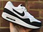 Nike Womens Air Max 1 Essential White/Black/Metallic Silver UK Sizes 4 5 6 NEW!
