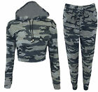 Womens Ladies Camouflage Army Loungewear Set Sweatshirt Joggers Tracksuit Pants
