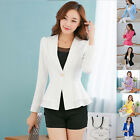 Women Fashion Casual Business Blazer One Button Slim Suit Jacket Coat New Style